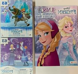 2 Kids Disney Princess Frozen Jumbo Coloring Book & Activity