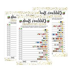 25 Emoji Children's Books Pictionary Baby Shower Game Party