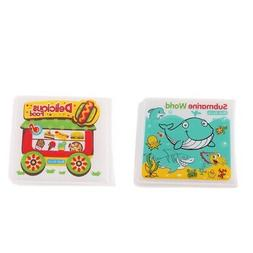 2pcs Bath Books Water Toy Baby Shower Gift Educational Toys