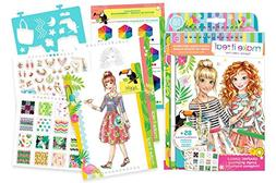 Fashion Design: Graphic Jungle Sketch Book and Stickers Craf