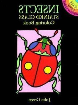 Insects Stained Glass Coloring Book
