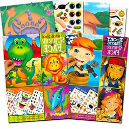 Make a Face Sticker Books for Kids Toddlers -- Set of 3 Jumb