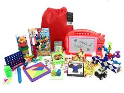 Premium Kids Travel Activity Bag. Full of Travel Games and T