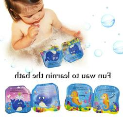 Baby Bath Time Books PVC Kids Fun Learning Toys Floating Pla