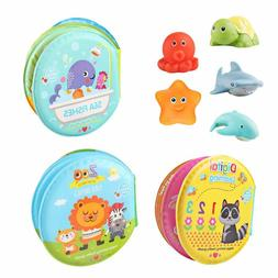Baby Bath Toys 3 Pack Nontoxic Soft Floating Sound Books Kid