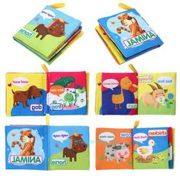 Baby Kids  Intelligence Development Cloth Learn Picture Book