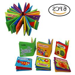 Quner Baby's First Non-Toxic Soft Cloth Book Baby Cloth Book