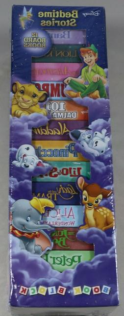Disney Bedtime Stories 12 Board Book Block Tower Childrens B