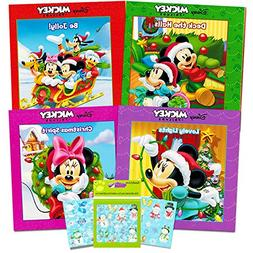 Disney Mickey Mouse and Minnie Mouse Christmas Board Book Se