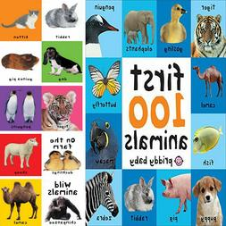 First 100 Animals Kids Education Learning Board Book For Bab