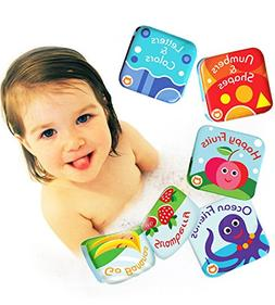 BabyBibi Floating Baby Bath Books. Kids Learning Bath Toys.