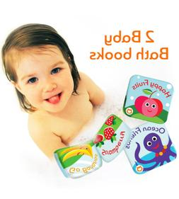 Floating Kids Books for Bathtub  by Baby Bibi. Fruits & Sea
