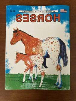 Horses - An Educational Read & Color Book / Great For Kids!