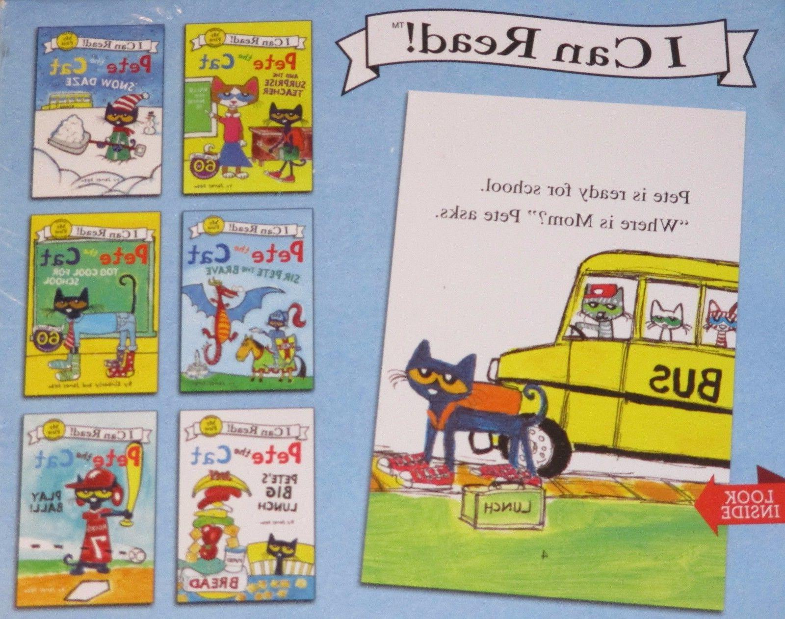 NEW 6 BOOK Set PETE THE CAT Children I CAN READ Learn SNOW D