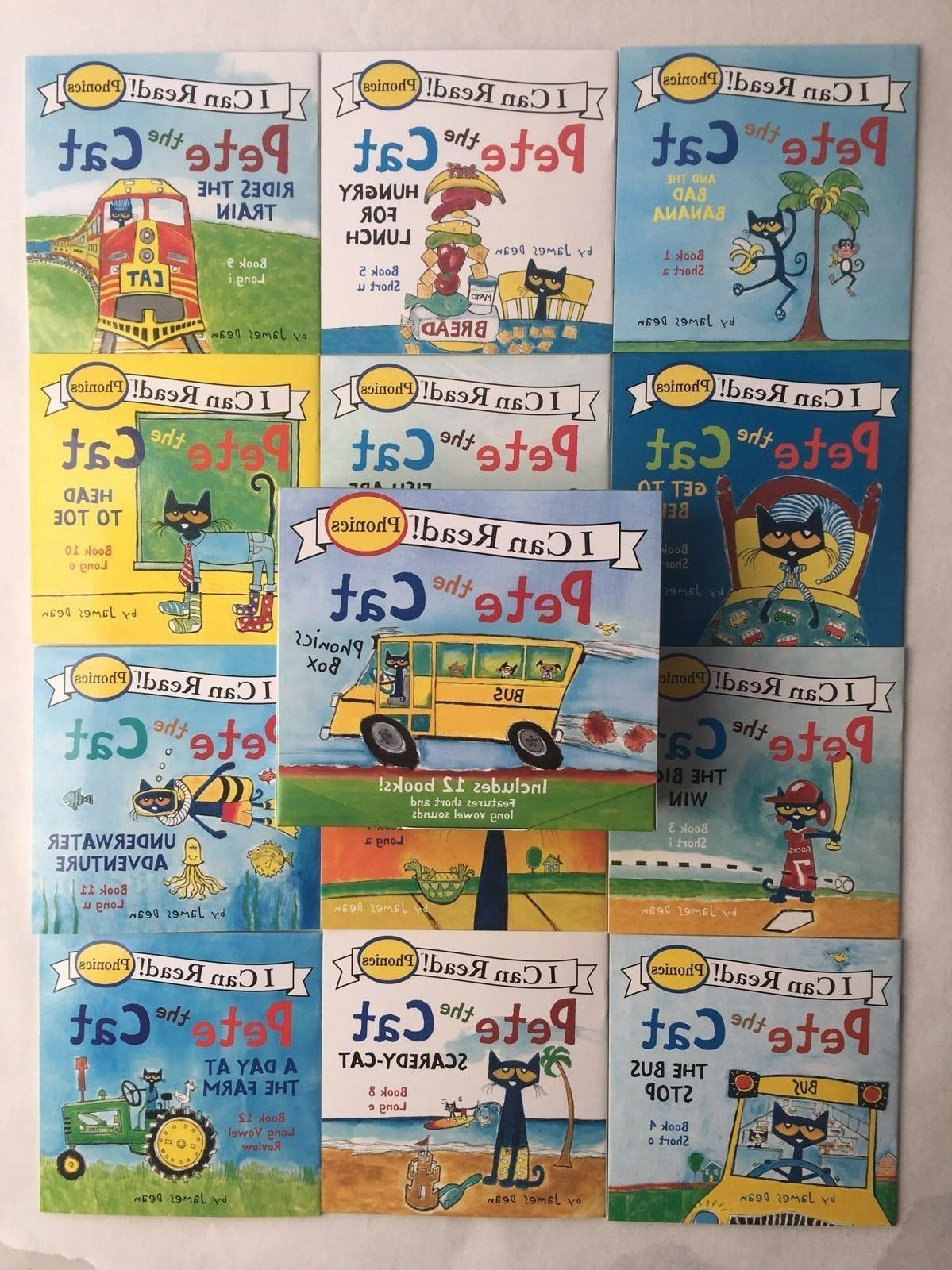 Pete the Cat Childrens Books Box Set I Can Read Phonics Lear