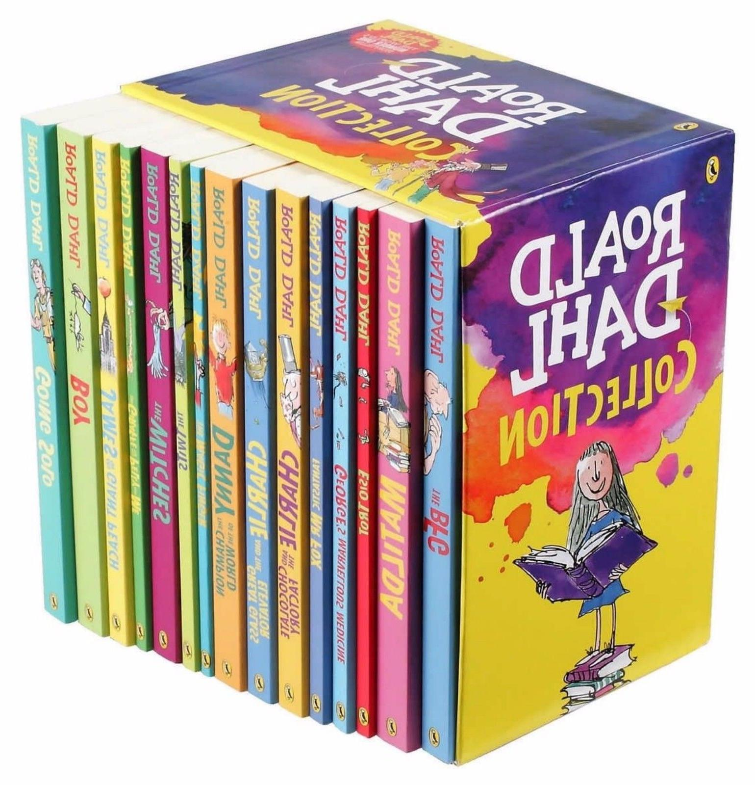 Roald Dahl Collection 15 Paperback Books Gift Set - New