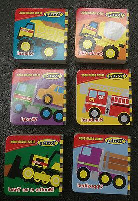 Tonka Block and Board Books 6 different Children's Tonka Tru