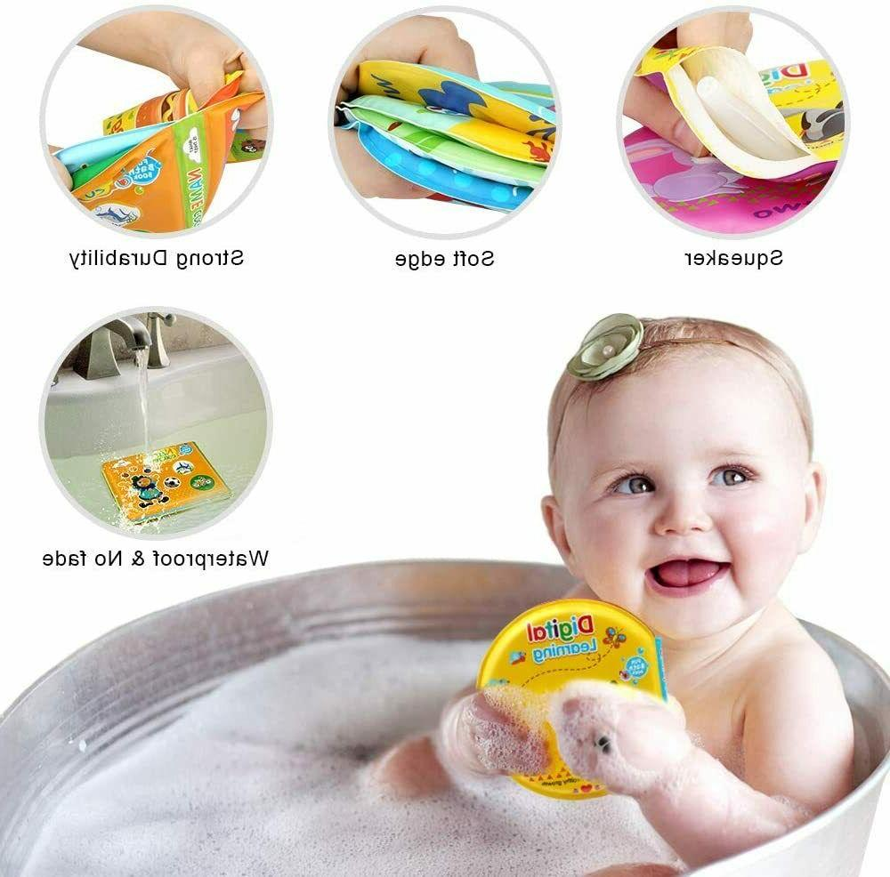 Baby 3 Pack Bath Books for Toddlers Boys and