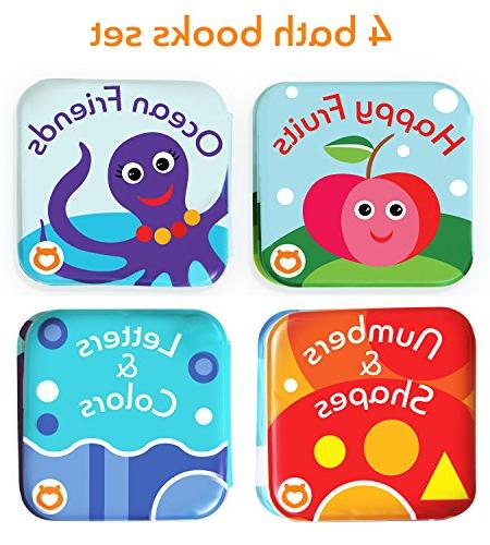 BabyBibi Floating Books. Kids Learning Toys. Waterproof Bathtime Toys for Toddlers. Kids Infant Bath Toys.