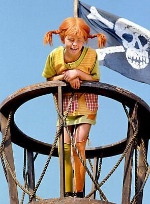 Official Pippi Longstocking Girls Dress TV Character Costume