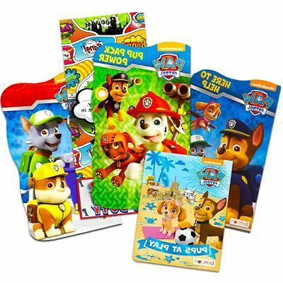 Nick Jr PAW Patrol Board Book Set -- 4 Shaped Board Books for Toddlers Kids  with Door Hanger