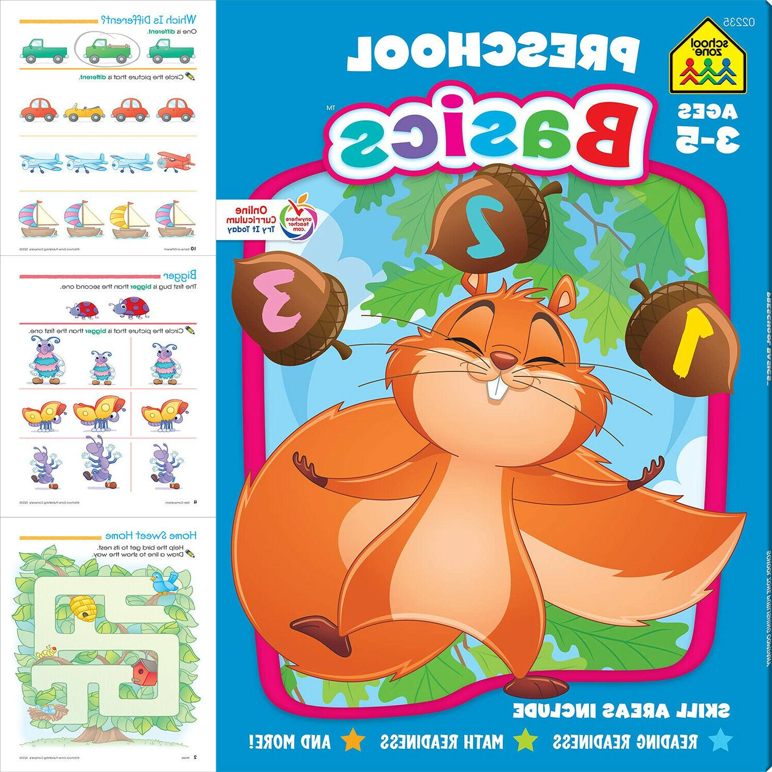 Preschool Basic Workbook Kids Learning Colors Numbers Counti