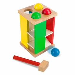 Melissa & Doug Deluxe Pound and Roll Wooden Tower Toy With H
