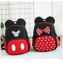 NEW Kindergarten Girls/Boys Mickey Mouse Baby Kids Book Bags