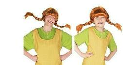 Official Pippi Longstocking Wig Kids Adult Fancy Dress Book