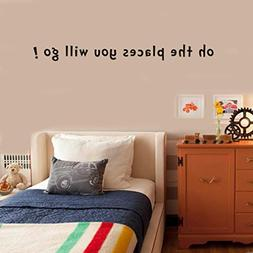 Rumas Oh The Places You Will Go Wall Sticker Quote, Home & K