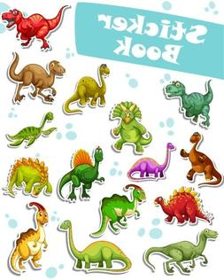 Sticker Book: Dinosaurs Collection Blank Sticker Book for Ki