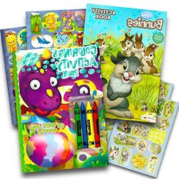Easter Coloring Book Super Set for Kids -- 2 Spring Books wi